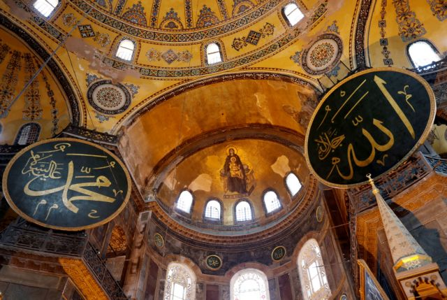 FILE PHOTO: A view of Hagia Sophia or Ayasofya, a UNESCO World Heritage Site, which was a Byzantine cathedral before being converted into a mosque and is now a museum,  in Istanbul, Turkey, June 30, 2020. REUTERS/Murad Sezer/File Photo
